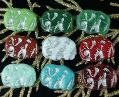 Czech Glass Beads – Mix Silver Multicolor Czech Glass Elephant Beads A – a unique product by CzechBeadsExclusive on DaWanda