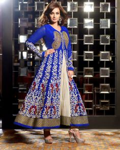 Price :- INR 3575 Product Page :- http://www.unnatiexports.com/design/closeup/women-party-wear-suits-a-596-b-4.html