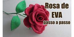 Olá tudo bem meus amigos? Hoje vim trazer um trabalho super fácil e barato, você vai aprender Como Fazer Rosas com EVA. Eva é um material leve, m