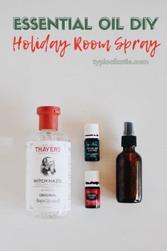 DIY Essential Oil Holiday Room Spray | 12 Days of Tutorials - Katie Crenshaw
