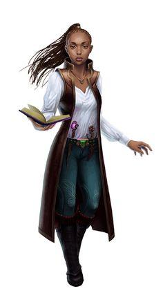 Female Human Wizard - Pathfinder PFRPG DND D&D d20 fantasy