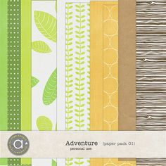 Adventure paper pack 01 by Ange