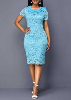 Sexy Dresses, Club & Party Dress Sale Online Page 9 Lace Dress Styles, African Lace Dresses, Short Lace Dress, Latest African Fashion Dresses, Women's Fashion Dresses, Sexy Dresses, Lace Dress With Sleeves, Half Sleeves, Fashion Clothes