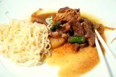 Carne de vaca agridoce - prato português inspirado na cozinha chinesa