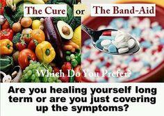 Healing vs symptoms management