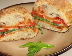 Grilled Portabella Sandwiches With Tomatoes, Mozzarella & Basil Recipe ...