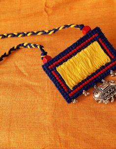 Colorful Jewelry by Rangpitaara - Jewelsome Fancy Jewellery, Thread Jewellery, Textile Jewelry, Embroidery Jewelry, Fabric Jewelry, Handmade Jewelry Designs, Handcrafted Jewelry, Handmade Jewellery, Boho Hippie