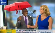 Davek with Al Roker on The Weather Chanel! Perfect umbrella to transition into fall. Compact Umbrella, The Weather Channel, Chanel, Fall, Mini, Fashion, Fall Season, Fashion Styles, Autumn