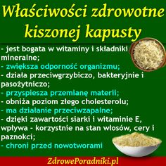 Właściwości zdrowotne kiszonej kapusty - Zdrowe poradniki New Recipes, Cooking Recipes, Healthy Tips, Healthy Recipes, Best Cookbooks, Slow Food, Health Eating, Nutrition Tips, Clean Eating