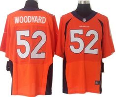 Nike Denver Broncos #52 Wesley Woodyard 2013 Orange Elite Jersey
