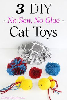 Treat Your Kitty with 3 Puuurfect DIY No Sew, No Glue Cat Toys! #IAMSCat [ad]