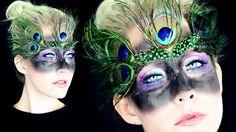 Maske zum Pfau Kostüm selber schminken und verzieren