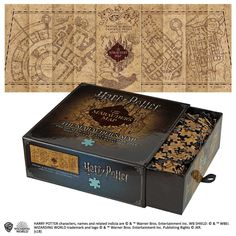 One Harry Potter Marauders Map Puzzle. Depicts the iconic map as it appears in the Harry Potter films. Harry Potter Puzzle, Harry Potter Pages, Objet Harry Potter, Cumpleaños Harry Potter, Harry Potter Marauders Map, Harry Potter Merchandise, Harry Potter Characters, The Marauders, Noble Collection Harry Potter
