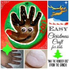 Max the Reindeer Dog Easy Christmas Craft for Kids #guestpost #craftsforkids #christmascrafts #handprintcrafts #diychristmasornament