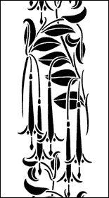art nouveau stencils for the home