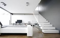 Living room decor ideas has so many design that can be chosen by you. It can be conventional or modern design. A living room with a natural view can be the most wanted design due to comfortable decoration. Minimalist Home Decor, Minimalist Interior, Minimalist Living, Small Living Rooms, Living Room Designs, Home Decor Bedroom, Living Room Decor, Stairs In Living Room, Diy Bedroom