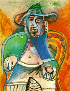 Seated Old Man 1970  Pablo Picasso