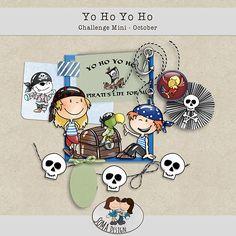 Oscraps.com :: Shop by Category :: All New :: SoMa Design: Yo Ho Yo Ho - Challenge Mini Pirate Life, Pirates, Challenges, Kit, Shop, Design, Store