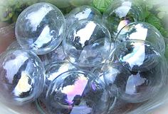 Fake bubbles that could be used for props or anything...just clear ornaments!