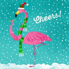 A festive #flamingo for #illo_advent day 13 cheers! 😀#illustration #illustratorsofinstagram #illustratorsoninstagram #flamingo #christmas… Christmas Palm Tree, Tropical Christmas, Beach Christmas, Christmas Mood, Christmas In July, Pink Christmas, Christmas Themes, Christmas Flamingo, Starbucks Christmas