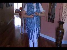 Простая идея одежды -жилетка, блузка ,шарф. - YouTube