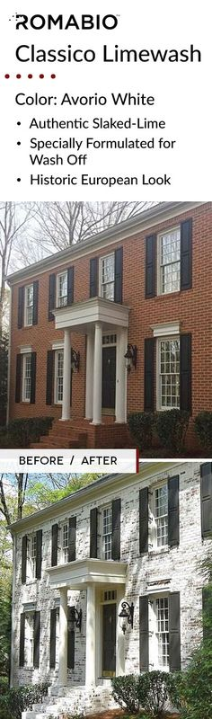 Exterior Paint Colors - You want a fresh new look for exterior of your home? Get inspired for your next exterior painting project with our color gallery. Exterior Paint Colors, Exterior Design, White Wash Brick, Exterior Makeover, Exterior Remodel, House Painting, Painting Brick, Decoration, House Colors