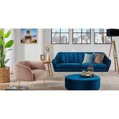 "Kardiel Mid-Century Kendall 82"" Fabric Sofa - Width 81.9"" x Depth 33.5"" x Height 33.1"" Living Room Furniture, Modern Furniture, Retro Living Rooms, Sofa Frame, Comfortable Sofa, Fabric Sofa, New Room, All Modern, Seat Cushions"