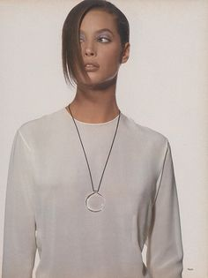 "US Vogue January 1988 ""Pure Style"" Model: Christy Turlington Photographer: Irving Penn"