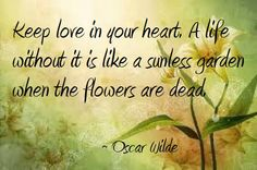 Love quote by Oscar Wilde.  #wallofhearts