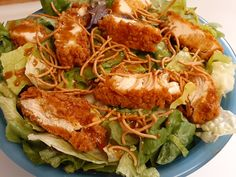 Asian salad made with tenders from our deli. Chicken Tenders, Chicken Wings, Asian Chicken Salads, Fresh Market, Tasty, Yummy Food, How To Make Salad, Deli, Salsa
