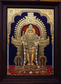 Tanjore painting Mural Art, Murals, Gold Leaf Art, Tanjore Painting, Indian Folk Art, Krishna Art, Cat Wallpaper, Hindu Art, Indian Paintings