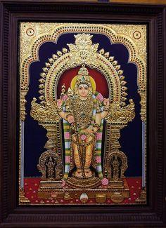 Tanjore painting Mural Art, Murals, Gold Leaf Art, Tanjore Painting, Indian Folk Art, Krishna Art, Cat Wallpaper, Hindu Art, Indian Gods