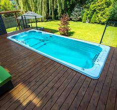 Installing your swim spa into a deck can give you an inground pool look for significantly less than an inground pool install