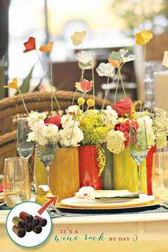 ancien casier à bouteilles abrite des fleurs