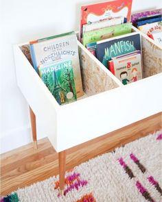 We love this idea for a DIY kid's bookshelf! #FunsizeFriday (Photo via @thislittlestreet)