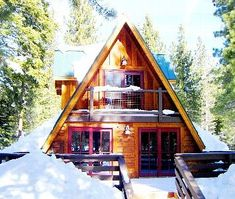 Where: Mammoth Lakes, California Sleeps: 6 people Cost per night: Rates may vary Winter Cabin, Cozy Cabin, Cozy Cottage, A Frame Cabin, A Frame House, Tiny Cabins, Cabins And Cottages, Cabins In The Woods, House In The Woods