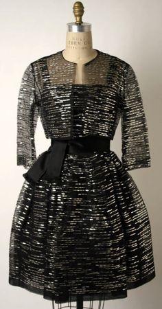 Ca.1960 Norman Norell dress ca. via The Costume Institute of The Metropolitan Museum of Art