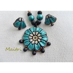 Terracotta Jewellery_Gorgeous Blue Flower