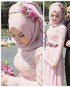 Stunning Muslim Bride Outfits with Hijab Ideas – Girls Hijab Style & Hijab Fashion Ideas Hijabi Wedding, Wedding Hijab Styles, Hijab Wedding Dresses, Wedding Dress Sleeves, Hijab Dress Party, Hijab Style Dress, Muslim Women Fashion, Simple Gowns, Bridal Hijab