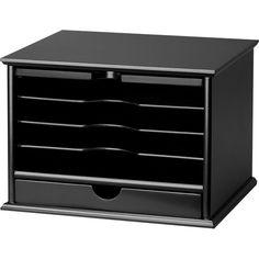 Victor® Wood Desktop Organizer, Midnight Black | Staples