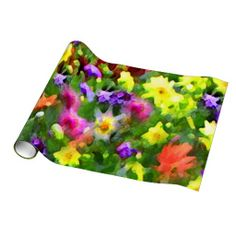 Flower Garden Impressions Gift Wrapping Paper