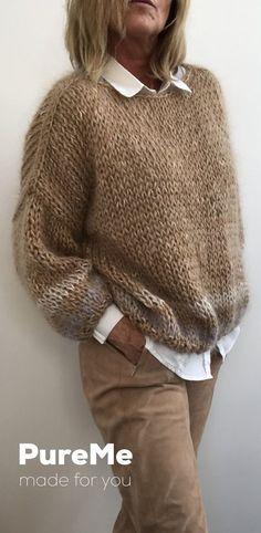 AM Donna trama grossa maglione lavorato a maglia spessa Larghi Maglione Oversize Taglie Forti