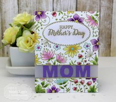 Taylored Expressions - Block Party - MOM. Works in nearly every die cutting machine. #cardmaking #papercrafts #crafts #crafty #mom #mother #mothersday