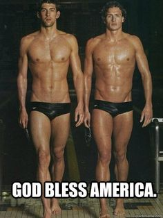 Hahaha.. America's swimmers!
