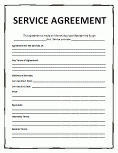 General Contract For Services Template  Contract For Services Template