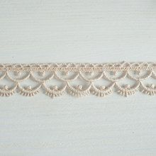 #Organic #lace #trim 26 mm wide natural ecru #cotton colour undyed, semi-circle rows www.lancasterandcornish.com #bridal #wedding #trim #lampshade #dressmaking #sewing #millinery #lingerie