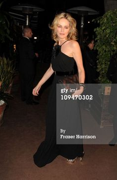 Actress Sharon Stone arrives at the Chanel and Charles Finch Pre-Oscar Dinner at Madeo Restaurant on February 26, 2011 in Los Angeles, California. (Photo by Frazer Harrison/Getty Images For Chanel)