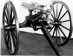 who invented the machine gun