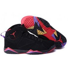 be172149f02 Mens Nike Air Jordan 7 Retro Big Size Black Red Purple Sneakers Nike Jordan,  Cheap