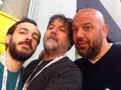 È il primo giorno e già parte l'hashtag #inbarbaallacrisi: qui con MarcosyMarcos e Gianmario Pilo della Grande invasione